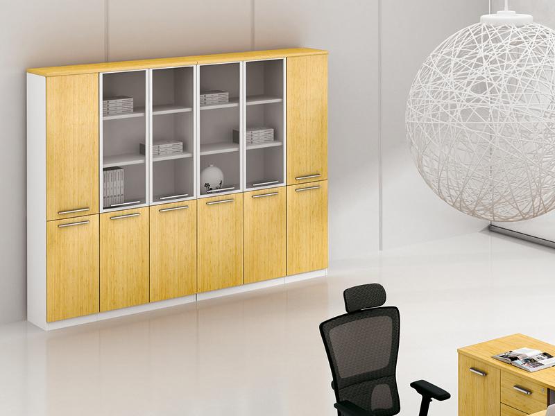 美耐家具木质组合办公室文件柜档案资料陈列展示柜书柜