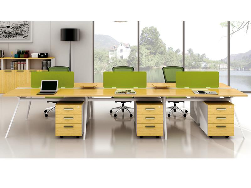 美耐家具 具 现代员工电脑桌 屏风简约职员办公桌椅6人位组合