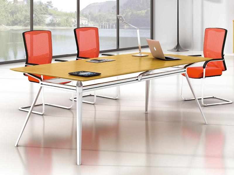 美耐家具 会议桌电脑桌员工培训会客洽谈简约板式办公桌