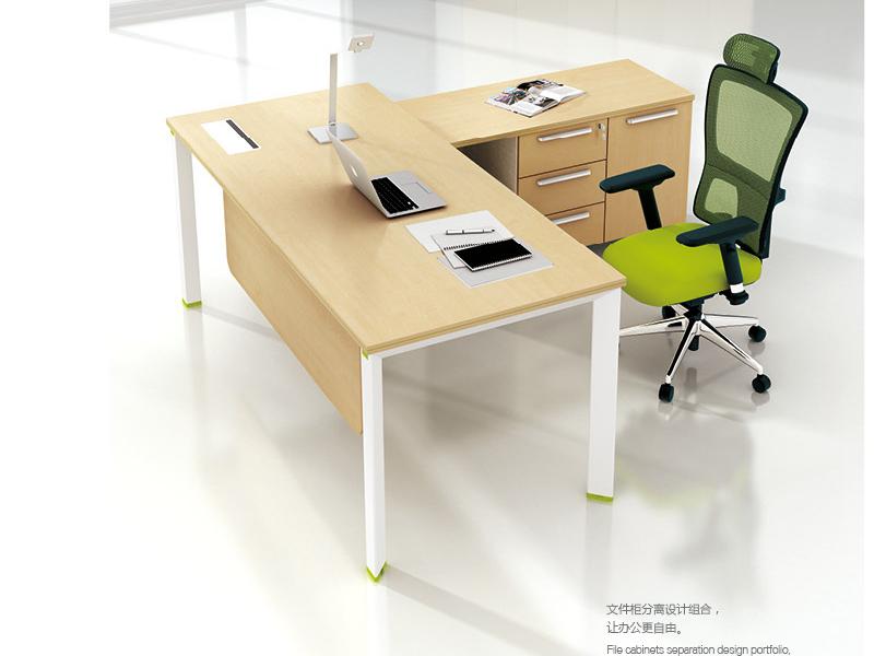 美耐家具 办公家具老板桌 办公桌经理 简约 现代 板式中班台 电脑桌