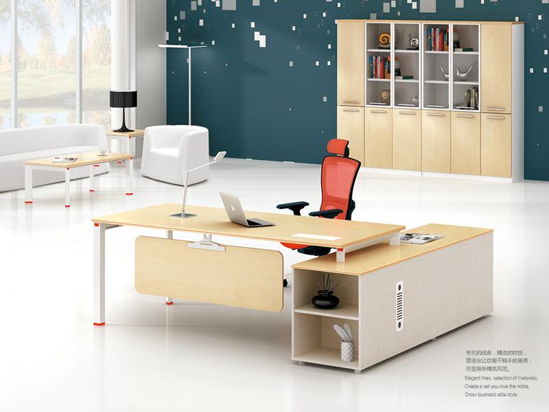 美耐家具 简约办公家具老板桌 中班台经理桌 主管桌班台 简约现代板式家具