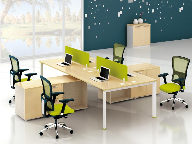 美耐家具 办公家具职员屏风四人位办公桌椅组合简约现代办工作桌员工作位桌