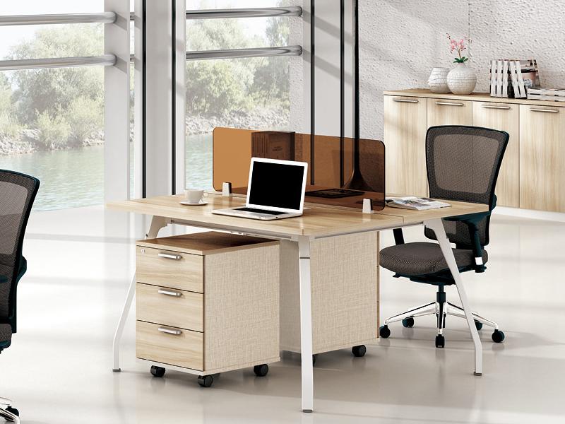 美耐家具 办公桌2人工作位职员桌简约电脑桌组合屏风隔断