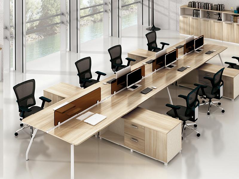美耐家具 办公家具8人位办公电脑桌 屏风组合工作位 简约现代职员卡座桌椅