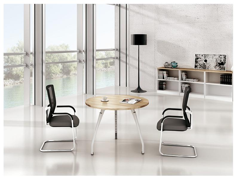 美耐家具 休闲圆桌茶几办公桌洽谈桌咖啡台休闲桌会议桌子