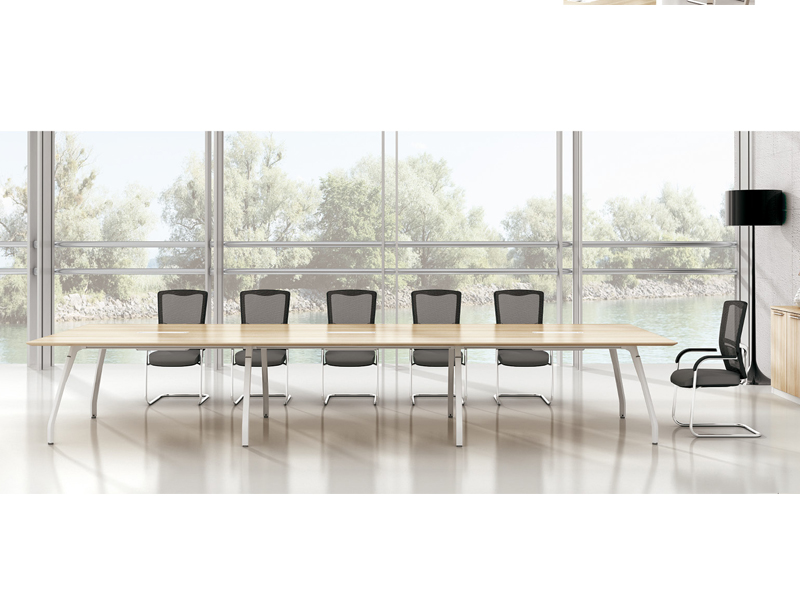 美耐家具 钢架组合简约现代板式条形洽谈会议培训桌椅