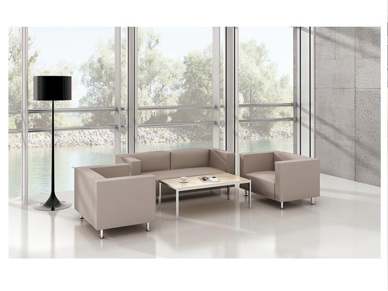 美耐家具 沙发茶几组合简约休闲会客接待沙发 单人双人位沙发