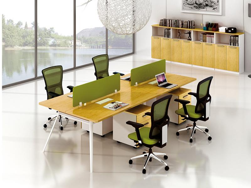 美耐家具 职员办公桌椅员工位办公桌 四人屏风组合职员工作位卡座电脑桌4人